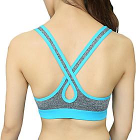 Women's Sexy Racerback Sports Bra Wireless Push Up Quick Dry Underwear Fitness Running Yoga Tops 5285724