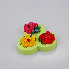 3in1 Flower shape silicone cake mold decoration for fondant cake chocolate cupcake mold baking tools 5280978