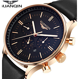 GUANQIN High Quality Men's Watch Japanese Waterproof Sapphire Crystal Luminous Calendar Leather Band Business Wrist Watch Cool Watch With Watch Box 4985585