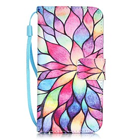 Case For Apple iPhone X / iPhone 8 / iPhone 7 Card Holder / Pattern Full Body Cases Flower Hard PU Leather for iPhone X / iPhone 8 Plus / iPhone 8