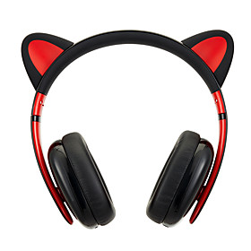 Censi Moecen Cat ear Headphones Best Lovely Gift Black Wired Version (Headband) ForMedia Player/Tablet / Mobile Phone / Computer With Noise-Cancelling