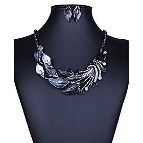 Women's Jewelry Set - European, Fashion, Euramerican Include Necklace / Earrings Purple / Green / Blue For Wedding Party Daily