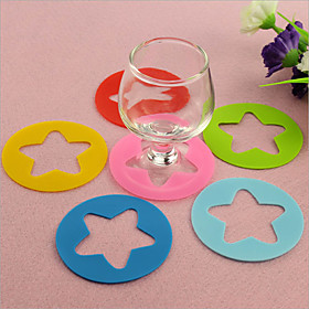 6pcs/set Silicone Cup Label Party Dedicated Red Wine Glass Silicone Recognizer Marker Wine Cup Accessories Random Color 5266991