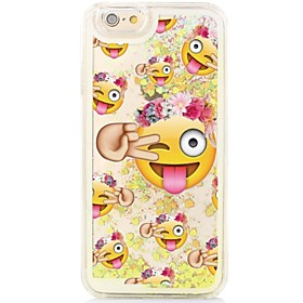 Cartoon Smiley Back Flowing Quicksand Liquid/Printing Pattern PC Hard Case Cover For iPhone 6s Plus/6 Plus/6s/6/SE/5s/5 5267630