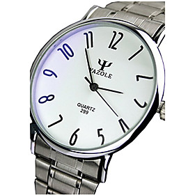 299 YAZOLE Fashion Unisex's  Dress Watch Stainless Steel Blue Ray Glass Analog Quartz Wrist Watches 5245377