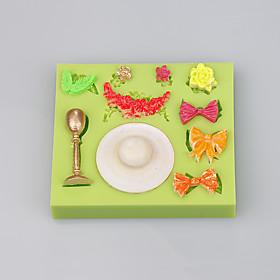 Bowknot shape silicone cake mold christmas decoration silicone cake mold wholesale 5306579