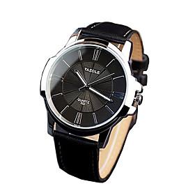 332 YAZOLE Fashion Men's Business Dress Watch Leather Strap Blue Ray Glass Noctilucent Analog Quartz Wrist Watches 5245368