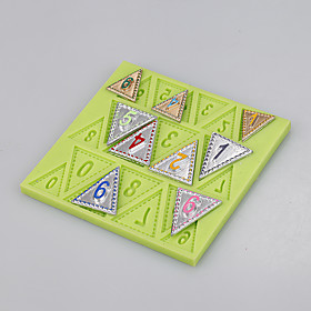 Food grade silicone flags number shape fondant cake mold silicone mold for cake decoration tools 5281002