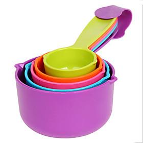 5pcs Set Measuring Spoons Kitchen Measuring Cup And Spoon Baking Utensil Set Spoon Cup Baking Utensil Random Color 5306109