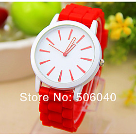 Women's Quartz Wrist Watch / Hot Sale Silicone Band Heart shape Casual White 5279376
