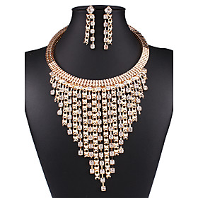 Women's Jewelry Set Statement, Ladies, Vintage, European, Fashion Include Necklace / Earrings Gold For Wedding Party Daily Casual Work