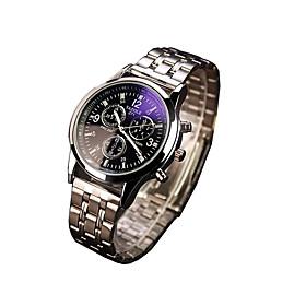 271 YAZOLE Fashion Unisex's Sport Dress Watch Stainless Steel Blue Ray Glass Noctilucent Analog Quartz Wrist Watches 5245376