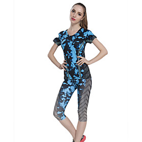 Women's Short Sleeve Running Clothing Sets/Suits Breathable Quick Dry Compression Sweat-wicking Spring Summer Fall/Autumn WinterSports 5269716