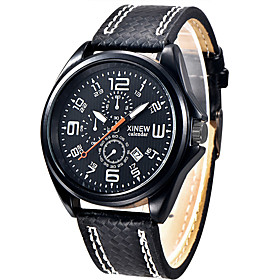 Man Watches Sale Men's Sports Watch Army Wristwatch Leather Watches for Men Military Quartz Clock Gift for a Man 5264552