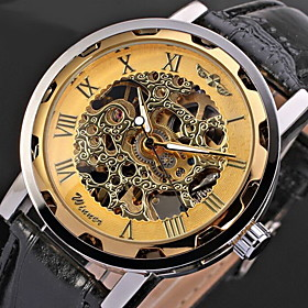 WINNER Men's Watch Mechanical Hollow Engraving Cool Watch Unique Watch Skeleton Watch Fashion Watch