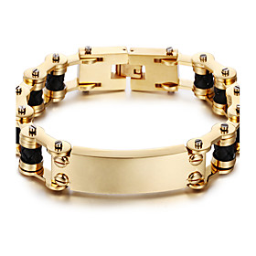 Kalen New 18K Dubai Gold Plated Men's Bracelet 316L Stainless Steel Link ChainLeather Bracelet Fashion Male Accessories Christmas Gifts 5308008