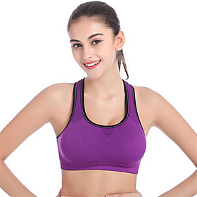 Women's Seamless Elastic Sports Bra Wireless Push Up Padded Fitness Running Tops 5262789