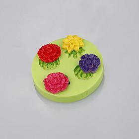 Rose shape fondant cake silicone mold muffin pan pendant silicone mold cake decoration tools 5284356