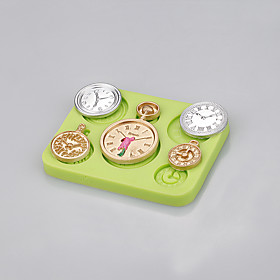 Hot wholesale clocks and watches shaped cake decorating silicone mold Color Random 5299586
