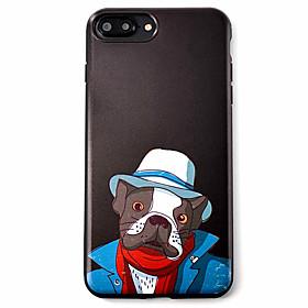 Per Fantasia\/disegno Custodia Custodia posteriore Custodia Con cagnolino Morbido TPU AppleiPhone 7 Plus \/ iPhone 7 \/ iPhone 6s Plus\/6