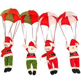 2016 Snowman Decoration Ornament Home Decor Parachute Santa Claus Doll Pendant Christmas Toys 5276817