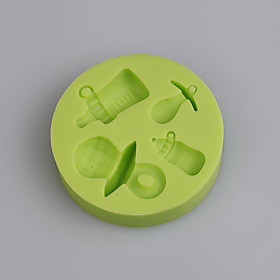 Baby's bottle and pacifier shape silicone mold for baby birthday cake fondant cake Color Random 5306612
