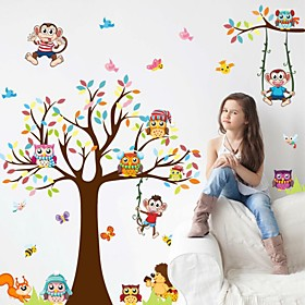 Fashion Story Tree Living Room Bedroom Children's Room Background Decorative PVC Removable Wall Stickers 5262675