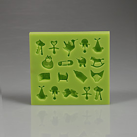 Soft hight quality baby Collection Fondant cake silicone mold 5306618