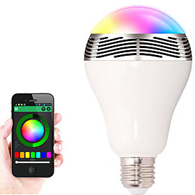 E27 Bluetooth Control Smart Music Audio Speaker LED RGB Color Bulb Light Lamps(AC85-265V) 5254987