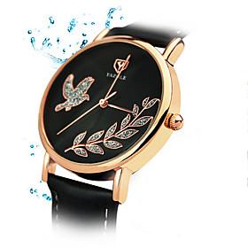 360 YAZOLE Fashion Women's Business Dress Watch Leather Strap Blue Ray Glass Analog Quartz Wrist Watches 5245364