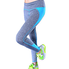 Women's Elastic Quick Dry Tights Patchwork Compression Long Sports Pants Fitness Running Leggings 5285726