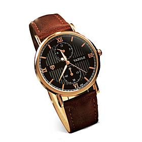 355 YAZOLE Fashion Men's Business Dress Watch Leather Strap Blue Ray Glass Noctilucent Analog Quartz Wrist Watches 5245370
