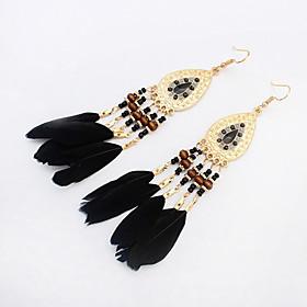High Quality Fashion Bohemia Earrings Jewelry 2016 Women's Trendy Long Earrings Boho Feather Earrings 5280871