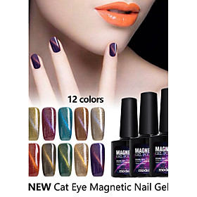 10ml Modelones Magnetic Nail Gel Polish Cute UV Lacquer Manicure Tool 12 Colors 5264744