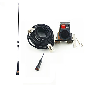 Mobile Ham Radio Antenna Antenna 400-470MHz Metal Car Antenna Mount Holder 5m Antenna Cable Packages Installed