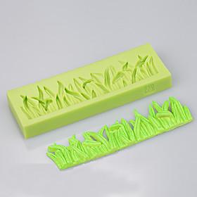The grass shape silicone mold cake decoration set baking chocolate cake silicon mold 5281023