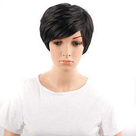Short Wavy Hair Black Color Synthetic Wigs for Women 5372575