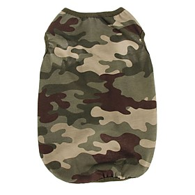 Cotton Cool Camouflage Green Pink Vest for Pets Dogs Dog Clothing 5335269