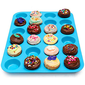 24 Cavity Silicone Muffin Cupcake Cookie Chocolate Mold Pan Baking Tray Mould Random Color 5372613