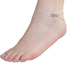 infinito 2 strati braccialetto a catena di fascino del calzino spiaggia sandalo gioiello a piedi nudi 2324584