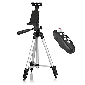 Tripod Bluetooth with Remote Control for iPhone / Android Smartphone / Tablet / iPad, Use for Video Recording, Pictures, or Live Streaming 5376647