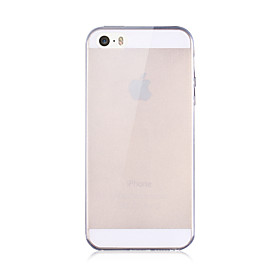 Case For iPhone 5 Apple iPhone X iPhone X iPhone 8 iPhone 5 Case Transparent Back Cover Solid Color Soft TPU for iPhone X iPhone 8 Plus 1434056