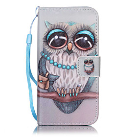 Case For Apple iPhone X / iPhone 8 / iPhone 7 Wallet / Card Holder / with Stand Full Body Cases Owl Hard PU Leather for iPhone X / iPhone 8 Plus / iPhone 8