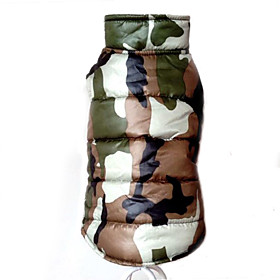 Dog Coat / Vest Red / Yellow / Green / Blue Dog Clothes Winter Camouflage Fashion / Keep Warm 5249396