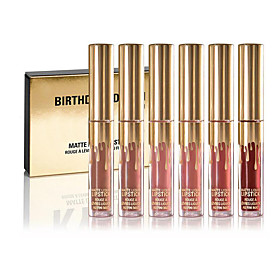 Birthday Limited Gold Edition 6 Colored Mini Lip Gloss Matte Cosmetics Lip Kit Cosmetics 5310885