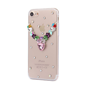 Per Con diamantini Custodia Custodia posteriore Custodia Con cuori Resistente PC AppleiPhone 7 Plus \/ iPhone 7 \/ iPhone 6s Plus\/6 Plus \/
