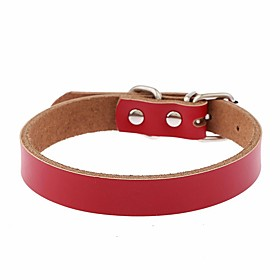 Dog Collar Adjustable / Retractable Reflective Running Hands free Casual Cosplay Solid PU Leather Black Brown Red Blue Pink 5337961