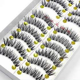 10 Pairs False Eyelashes Fake Lashes Individual Lash Luster Lash Extensions High Quality Clear Strip Lash 4744767