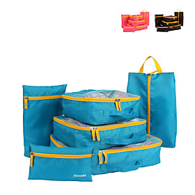 6 sets Travel Bag / Travel Organizer / Travel Luggage Organizer / Packing Organizer Large Capacity / Travel Storage / Multi-function Clothes Net Fabric Travel