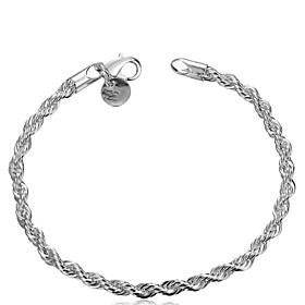 Women's Chain Bracelet - Unique Design, Classic, Basic Bracelet Silver For Wedding Party Daily
